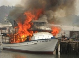 Взрыв на катере, вибух на катері, An explosion of a boat