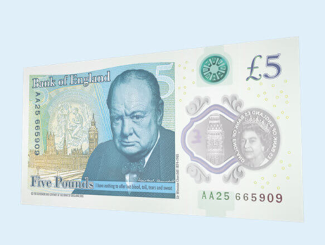 Пластиковые банкноты выпущены в Великобритании
