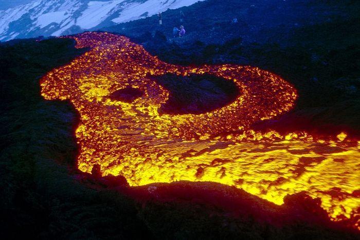 Извержение вулкана, Eruption of volcano, Виверження вулкану