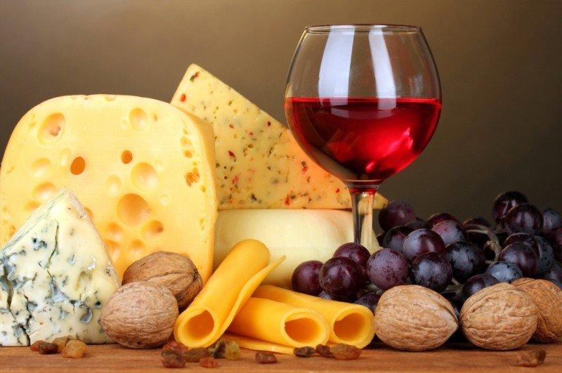 Вино и сыр, Wine and cheese, Вино та сир