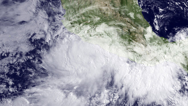 tropical storm in Mexico