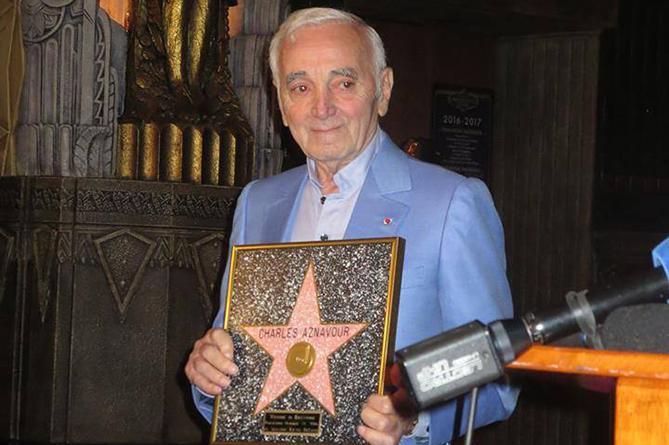 именная звезда Шарля Азнавура, Charles Aznavour, відкрито іменну зірку