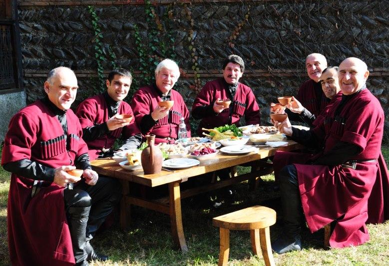 Грузинское застолье, Georgian feast, Грузинське застілля