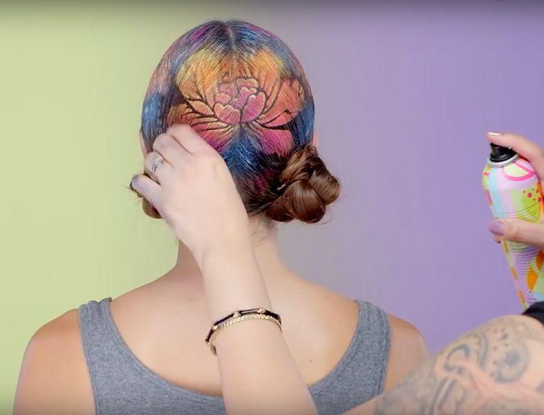 графическое окрашивание волос, graphic hair coloring, графічне фарбування волосся