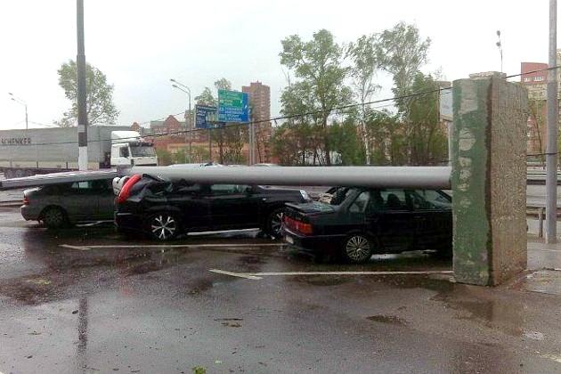Hurrikan in Moskau