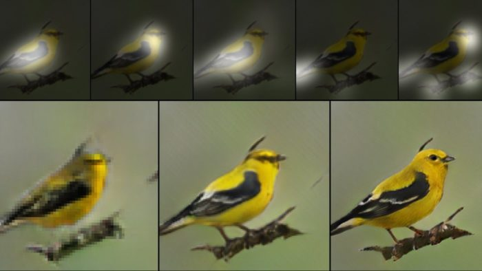 AI painted a bird